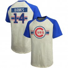 Chicago Cubs - Ernie Banks Cooperstown Collection Hard Hit MLB T-shirt