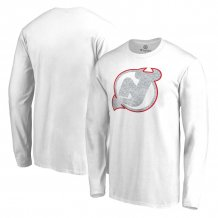 New Jersey Devils - White Out NHL Long Sleeve T-Shirt