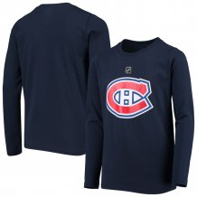 Montreal Canadiens Youth - Primary Logo NHL Long Sleeve T-Shirt