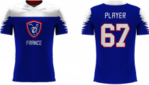 France - 2018 Sublimated Fan T-Shirt with Name and Number