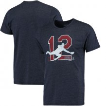 Cleveland Indians - Francisco Lindor Threads Player Silhouette Tri-Blend MLB T-Shirt