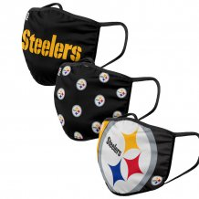 Pittsburgh Steelers - Sport Team 3-pack NFL face mask