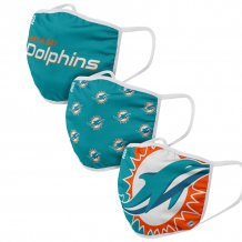Miami Dolphins - Sport Team 3-pack NFL face mask