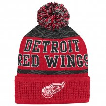 Detroit Red Wings Youth - Puck Pattern NHL Knit Hat