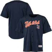 Detroit Tigers - Stitches Polyester Button-Up MLB Jersey