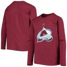 Colorado Avalanche Youth - Primary Logo NHL Long Sleeve T-Shirt