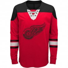 Detroit Red Wings Youth - Hockey Lace-Up Crew NHL Long Sleeve T-shirt