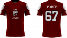 Latvia - 2018 Sublimated Fan T-Shirt with Name and Number