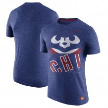 Chicago Cubs - Cooperstown Collection Logo Tri-Blend MLB T-shirt
