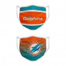 Miami Dolphins - Colorblock 2-pack NFL face mask