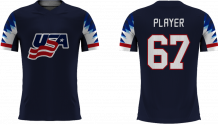 USA Youth - 2018 Sublimated Fan T-Shirt with Name and Number