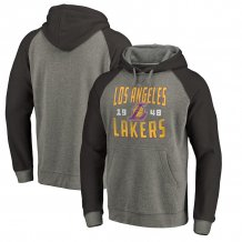 Los Angeles Lakers - Ash Antique Stack Tri-Blend NBA Hooded