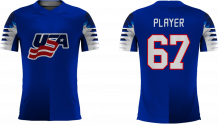 USA - 2018 Sublimated Fan T-Shirt with Name and Number