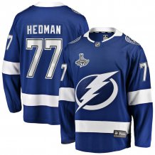Tampa Bay Lightning - Victor Hedman 2020 Stanley Cup Champions Home NHL Jersey