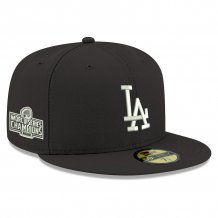 Los Angeles Dodgers - 2020 World Champions Patch Black 59Fifty MLB Hat