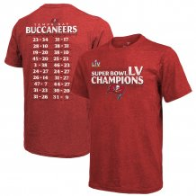 Tampa Bay Buccaneers - Super Bowl LV Champions Schedule NFL T-Shirt