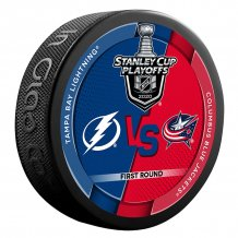 Tampa Bay Lightning vs. Columbus Blue Jackets - 2020 Stanley Cup Playoffs Dueling NHL Puck