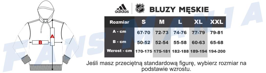 Tabela rozmiarów Adidas NHL męskie bluzy